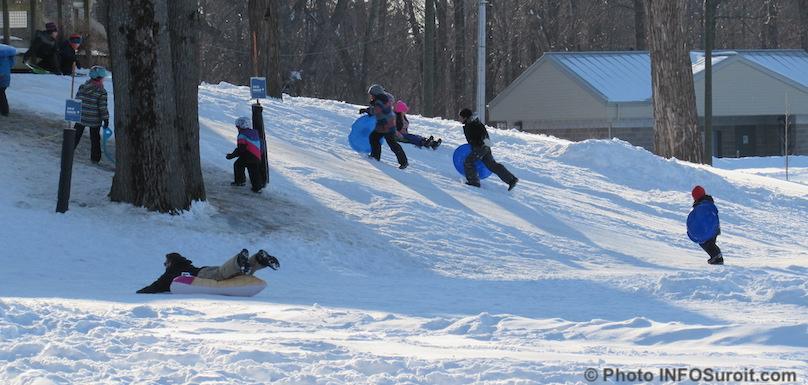 parc regional des iles St-Timothee hiver glissade familles amis du parc photo INFOSuroit