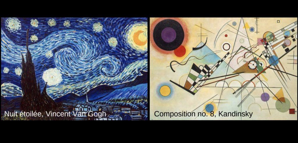tableaux Vincent_van_Gogh et Kandisky pour ateliers peinture sur traces des Grands-Maitres au MUSO