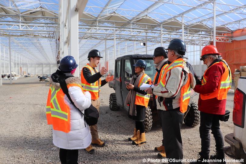 visite serre en construction TGOD Valleyfield fev 2019 photo JHaineault INFOSuroit