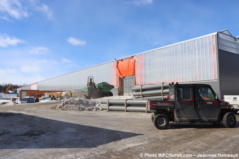 visite usine TGOD Valleyfield facade en construction fev2019 photo JHaineault INFOSuroit
