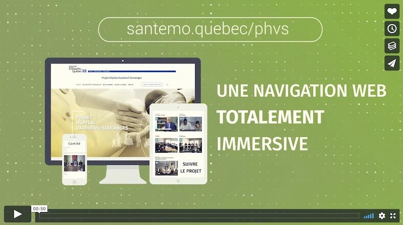 visuel video Vimeo sur projet hopital Vaudreuil-Soulanges courtoisie CISSSMO