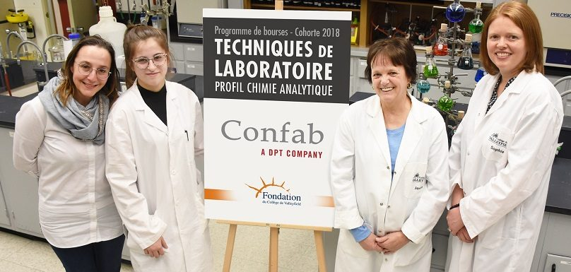 KVinet boursiere 2019 en chimie analytique Cegep de Valleyfield photo via Colval