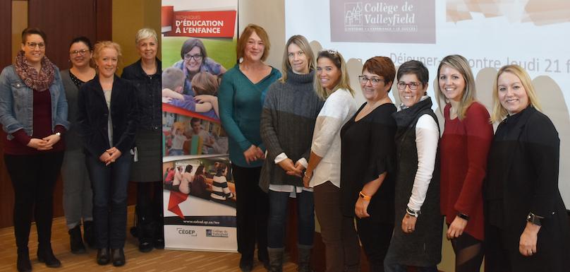 Cegep Valleyfield education enfance TEE partenaires apprentissage milieu de travail photo ColVal