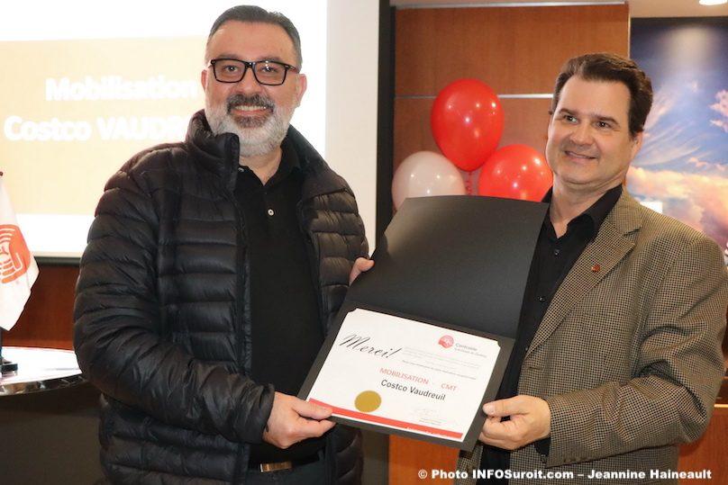 Centraide 20mars2019 certificat reconnaissance a Cotsco Vaudreuil photo JH INFOSuroit