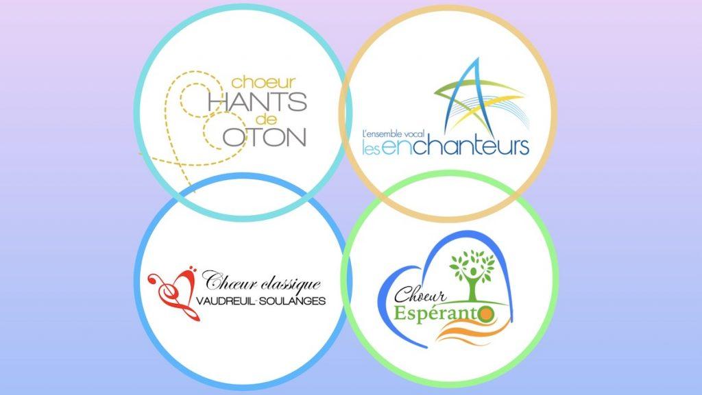 Choeurs en fusion pour 25 ans Vaudreuil-Dorion logos des choeurs courtoisie VD