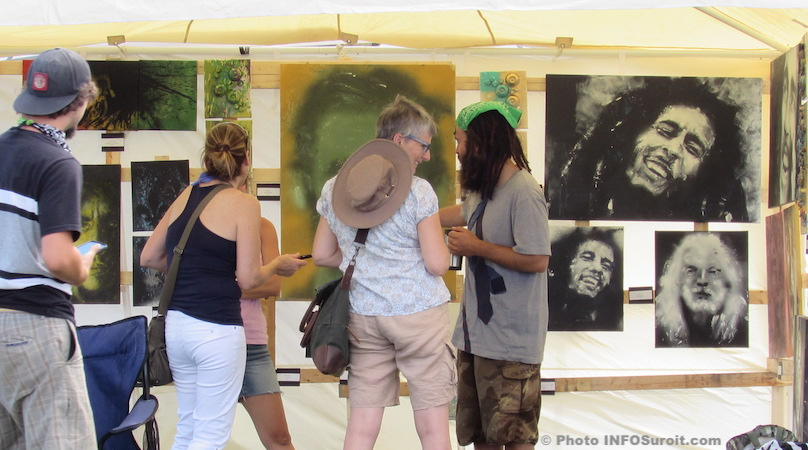 Festival des arts de Valleyfield visteurs et artiste photo INFOSuroit