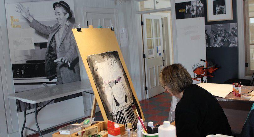 artiste Diane_Collet en creation a la Maison Felix-Leclerc photo via VD