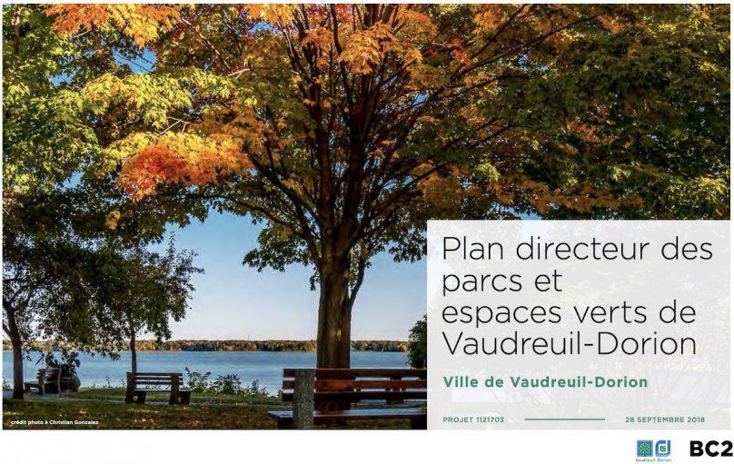 couverture plan directeur des parcs et espaces verts Ville Vaudreuil-Dorion