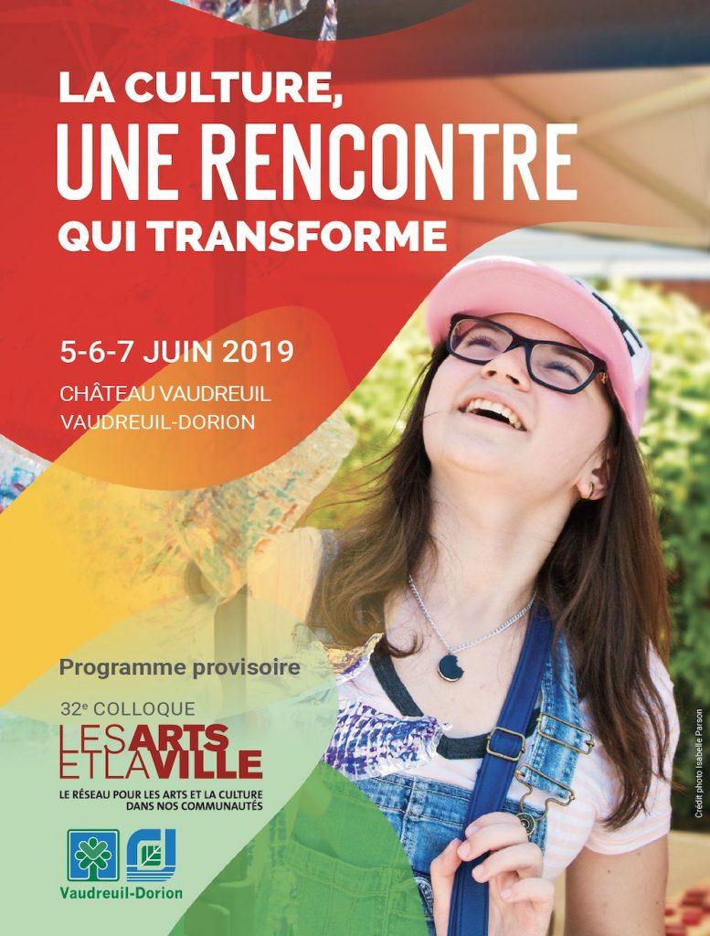 culture colloque Les_Arts et la_Ville 2019 Vaudreuil-Dorion couverture du programme