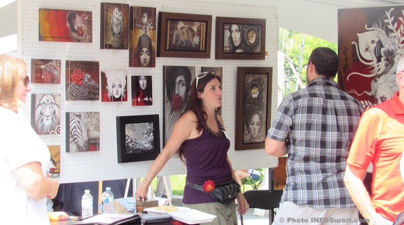 festival des arts de Valleyfield 2014 SophieWilkins et visiteurs photo INFOSuroit