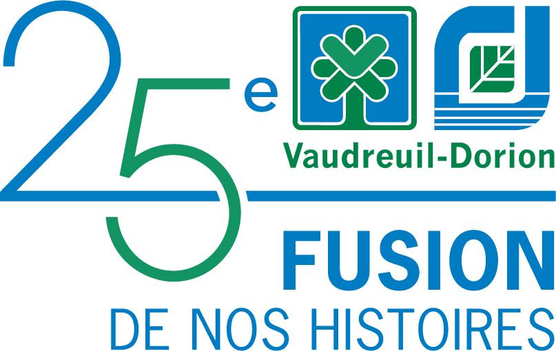 logo 25_ans fusion Vaudreuil-Dorion