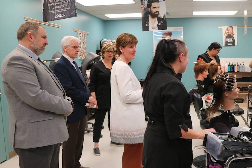 ministre MCBibeau visite CFP Pointe-du-Lac photo via CSVT