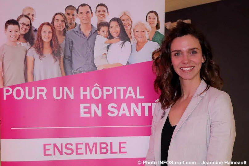 nouvelle directrice Fondation Hopital du Suroit MCyr-Lemieux photo JH INFOSuroit