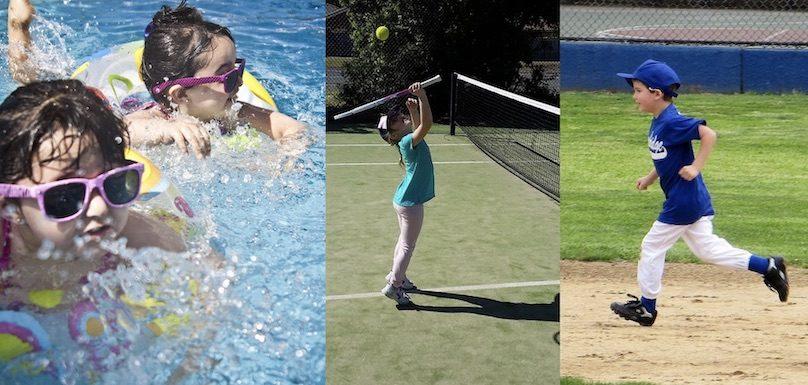 sports loisirs enfants baignade tennis baseball photos Pexels BMewett et Andreahamilton264 via Pixabay