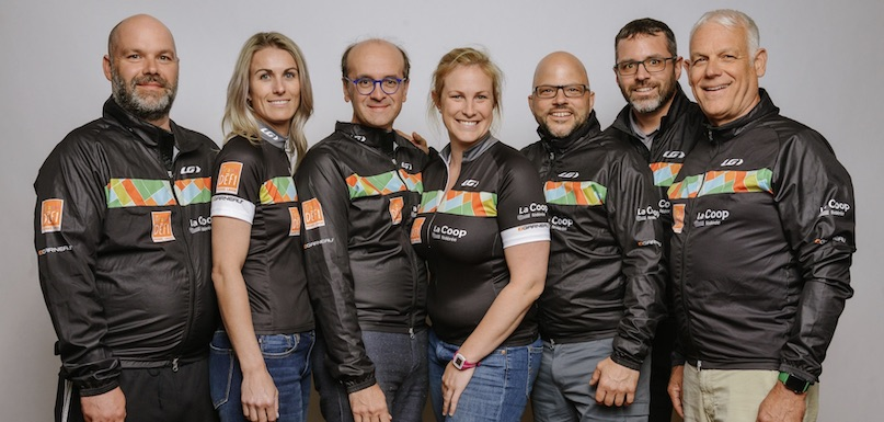 Equipe cycliste Coop federee pour Defi Pierre_Lavoie photo courtoisie Coop