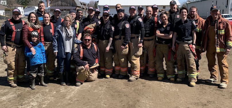 aide inondations avr2019 pompiers Ville Chateauguay photo courtoisie VC