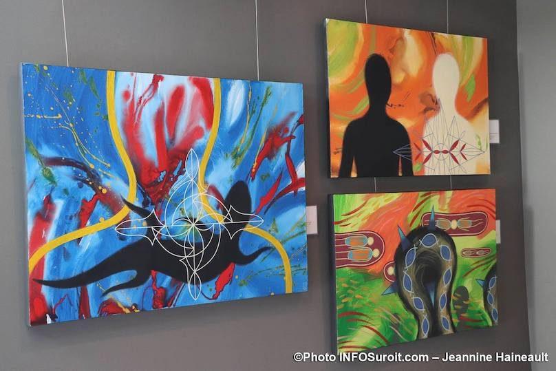 des tableaux artiste Stephan_Daigle avr2019 photo JH INFOSuroit