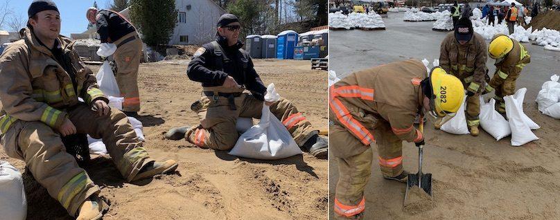 pompiers Ville Chateauguay aide pour inondations 2019 photos courtoisie VC
