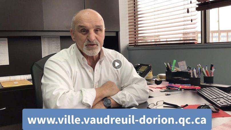 video maire GuyPilon 26 avril 2019 demande benevoles indondations via Facebook Ville Vaudreuil-Dorion