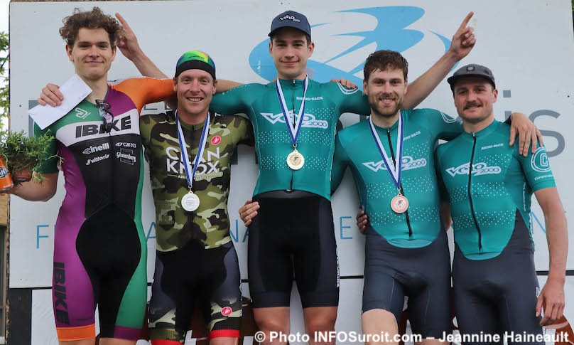 Criterium Beauharnois 2019 cyclistes gagnants Open photo JH INFOSuroit