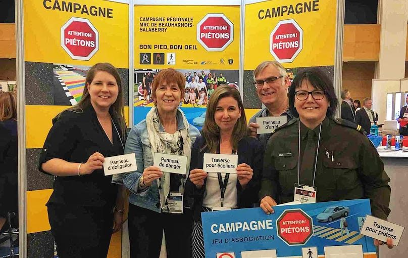 MRC BhS a Quebec congres UMQ 2019 campagne Bon pied Bon oeil photo courtoisie