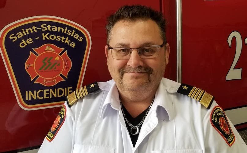 Stephane_Brossoit directeur incendie St-Stanislas-de-Kostka mai2019 photo courtoisie