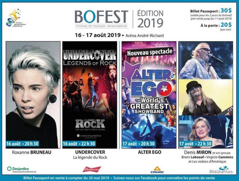 annonce spectacle BoFest 2019 via Comite Fete des citoyens Beauharnois