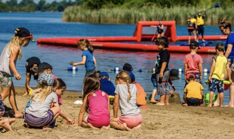 camp de jour avec Cite des Arts et des Sports au parc des iles photo via ville Valleyfield