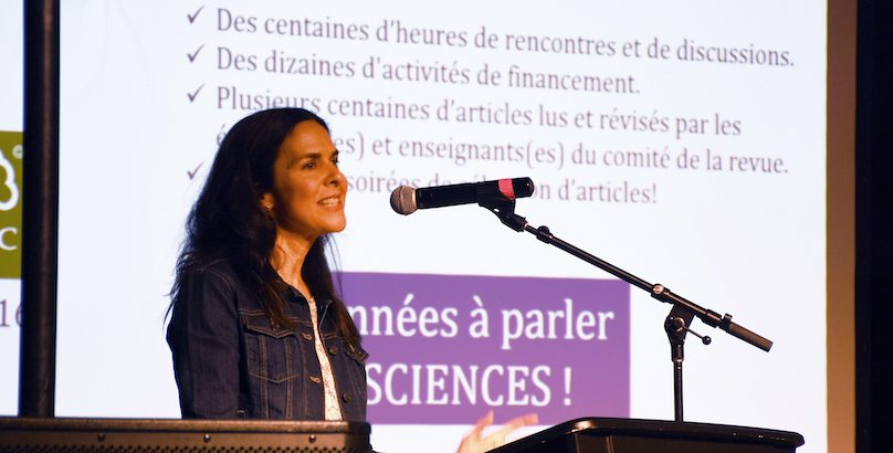 devoilement revue scientifique 2019 Helene_Levesque photo via ColVal