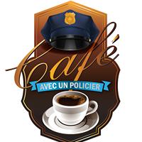 logo Cafe avec un policier visuel courtoisie