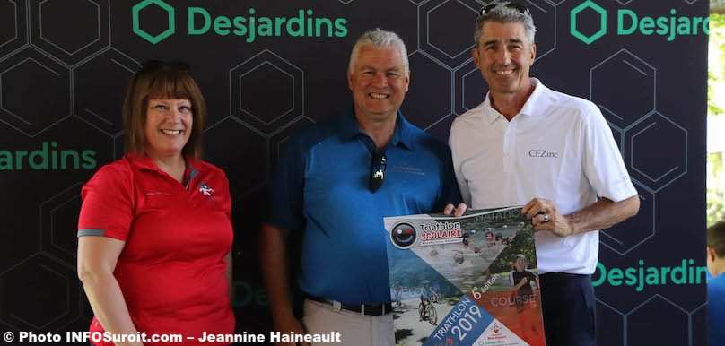 BAsselin Triathlon Valleyfield MBrindle responsable Triathlon scolaire 2019 et JFGagnon CEZinc photo JH INFOSuroit