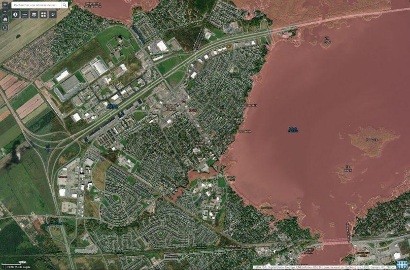 Carte projet decret gouvernement du Quebec Zone_d_intervention_speciale carte via site Web cehq_gouv_qc_ca
