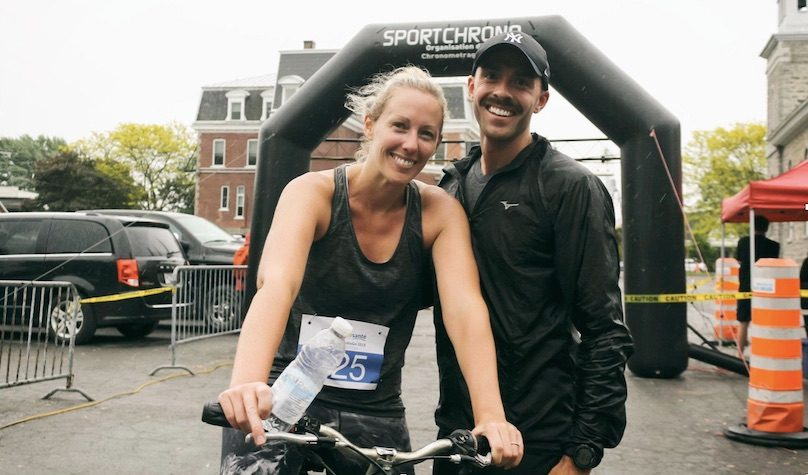 Defi Vert la sante Bike and Run CardioGo 2019 couple participant photo courtoisie Zel