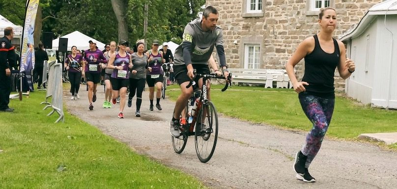 Defi Vert la sante Bike and Run CardioGo 2019 photo via St-Louis-de-Gonzague