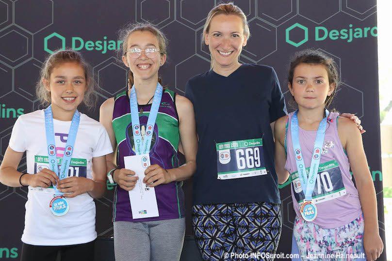 Defi_FRAS 2019 podium filles 6-11 ans avec deputee MPicard photo JH INFOSuroit