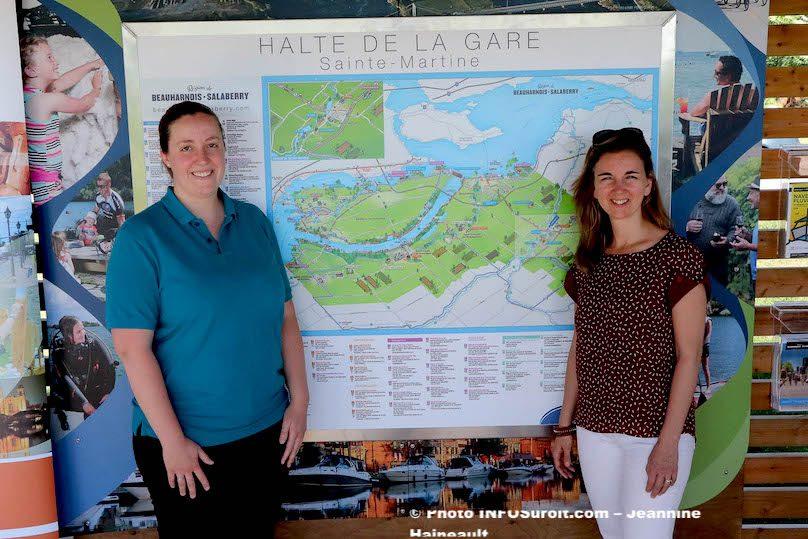 Ste-Martine inauguration Halte de la Gare VBinette et MLaberge photo JH INFOSuroit