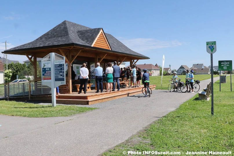 Ste-Martine route verte inauguration halte de la gare reseau cyclable 2019 photo JH INFOSuroit