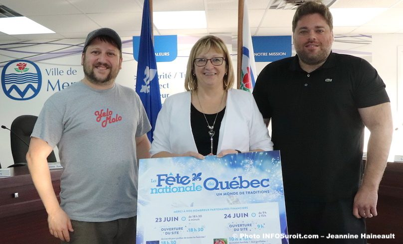 Stephane_Yelle de Yelo_Molo Lise_Michaud et Patrick_Lalonde mai2019 photo JH INFOSuroit