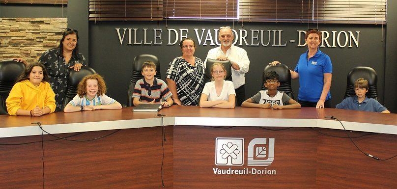 Ville Vaudreuil-Dorion maire mairesse et conseillers d_un jour juin 2019 photo courtoisie