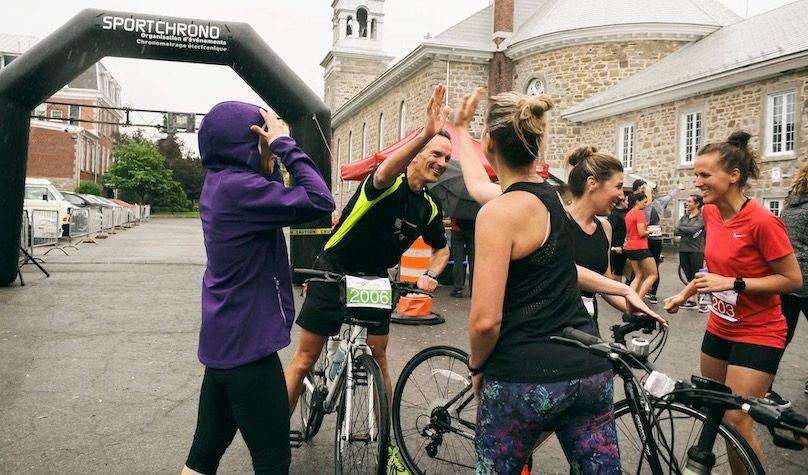 arrivee Defi Vert la sante Bike and Run 2019 photo via St-Louis-de-Gonzague