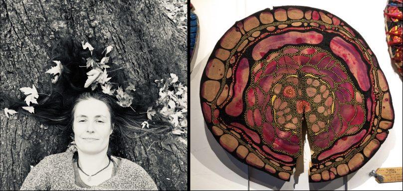 artiste Isabelle_Juillet et une de ses oeuvres photos courtoisie Ville Vaudreuil-Dorion
