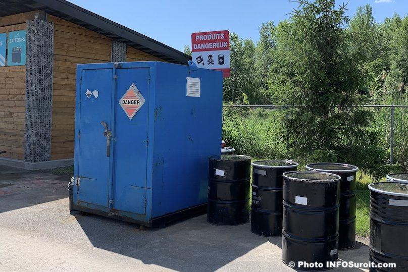 ecocentre Beauharnois RDD produits dangereux barils juin2019 photo INFOSuroit