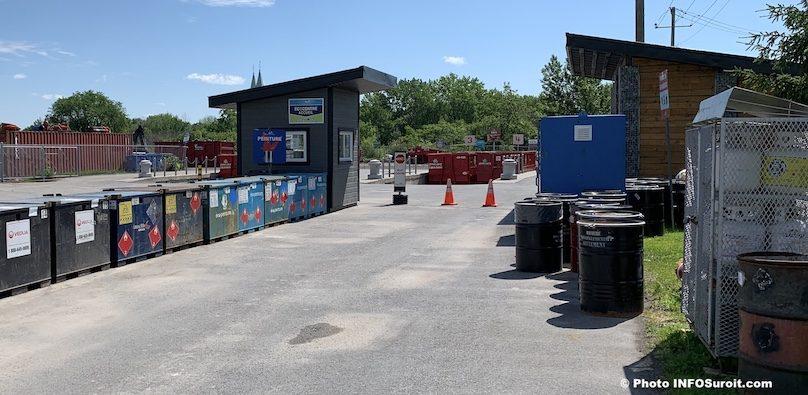 ecocentre Beauharnois poste accueil peinture propane RDD et plus juin2019 photo INFOSuroit