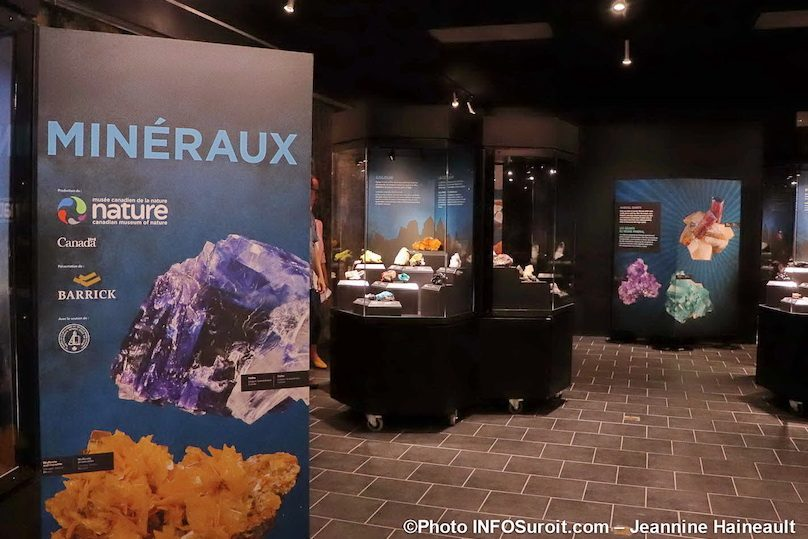 exposition Mineraux au musee Pointe-du-Buisson photo JH INFOSuroit