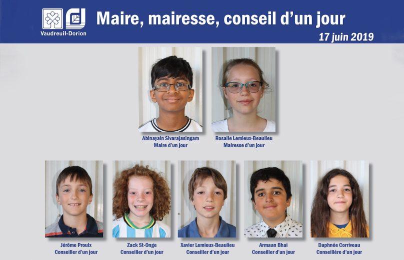 maire mairesse et conseillers d_un jour Ville Vaudreuil-Dorion photo courtoisie