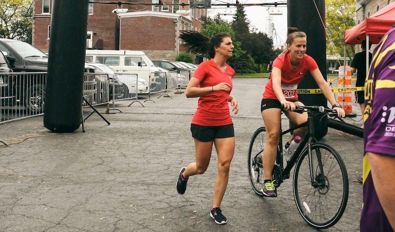 participantes Defi Vert la sante Bike and Run CardioGo photo via St-Louis-de-Gonzague