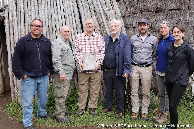 site Droulers lancement livre archeologie CChapdelaine Universite de Mtl photo JH INFOSuroit