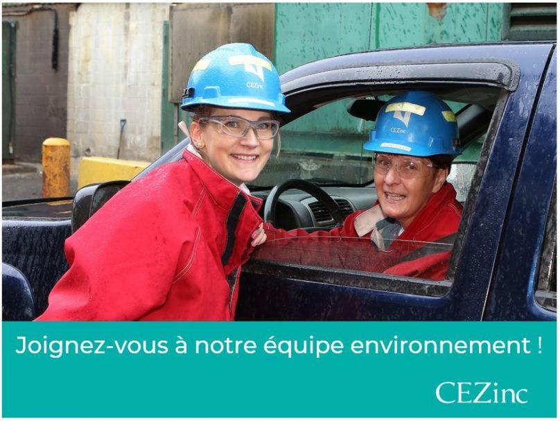 CEZinc visuel Emploi RH juil2019 equipe Environnement pour INFOSuroit courtoisie CEZInc