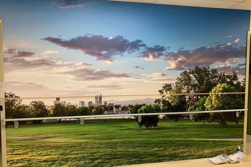 CHSLD la Prairie murale paysage photo via Fondation Anna-Laberge