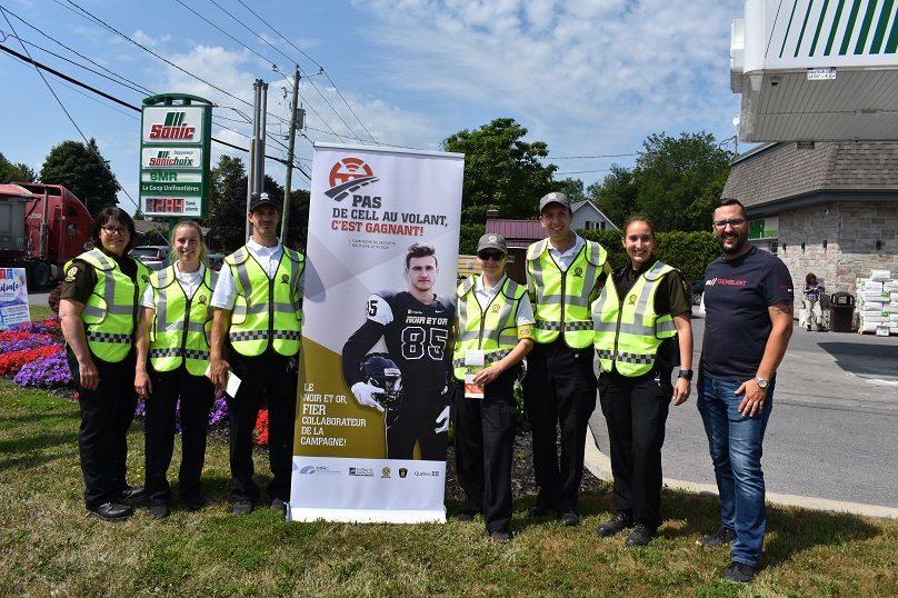 Campagne Pas de cell au volant le 25 juillet 2019 à St-Louis-de-Gonzague photo via MRC Beauharnois-Salaberry